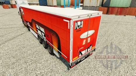 Skin Duff on semi for Euro Truck Simulator 2