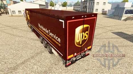 Skin UPS for trailers for Euro Truck Simulator 2