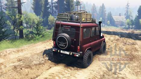 UAZ-315195 v2 turbo diesel.0 for Spin Tires
