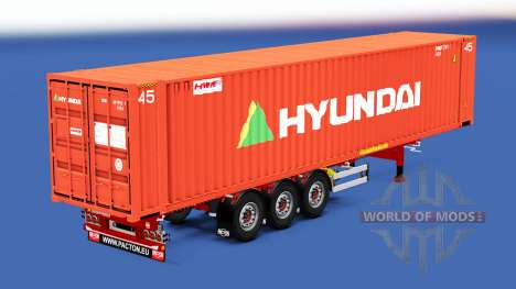 The semitrailer-container truck with different l for American Truck Simulator
