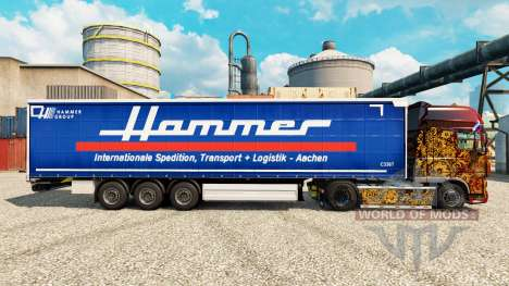 Skin Hammer Group on semi for Euro Truck Simulator 2