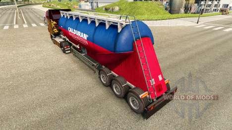 Skin Calduran cement semi-trailer for Euro Truck Simulator 2