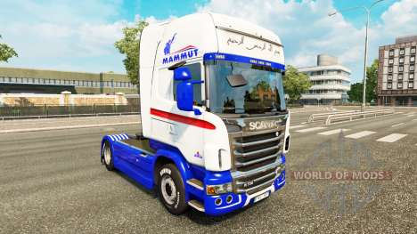 Skin for Mammut tractor Scania for Euro Truck Simulator 2