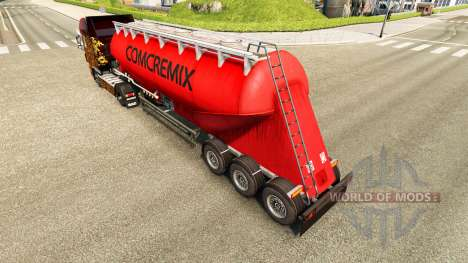 Skin Comcremix cement semi-trailer for Euro Truck Simulator 2