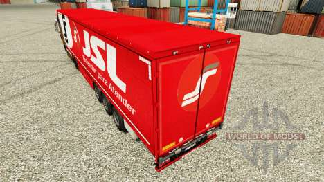JSL skin for trailers for Euro Truck Simulator 2