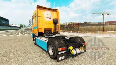 Pezzaioli Pigs skin for DAF truck for Euro Truck Simulator 2