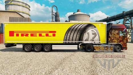 Pirelli skin for trailers for Euro Truck Simulator 2