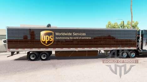 Skin UPS extended trailer for American Truck Simulator