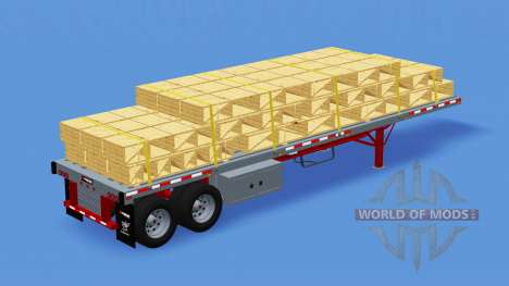 Two-axle semi-trailer-platform for American Truck Simulator