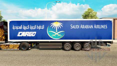 The skin Saudi Arabian Airlines to trailers for Euro Truck Simulator 2