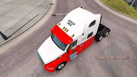 The skin on Arnold Bros tractor Peterbilt 387 for American Truck Simulator