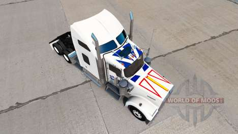 Skin Newfoundland Flag on the truck Kenworth W90 for American Truck Simulator