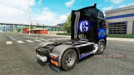 Skin FC Schalke 04 at Volvo trucks for Euro Truck Simulator 2