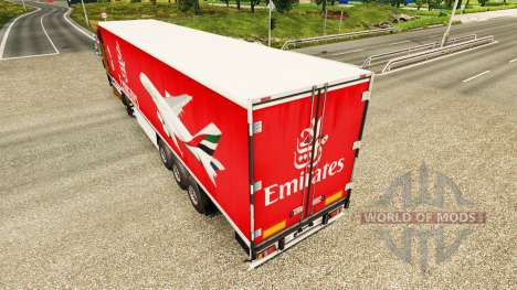 The Emirates Airlines skin for trailers for Euro Truck Simulator 2