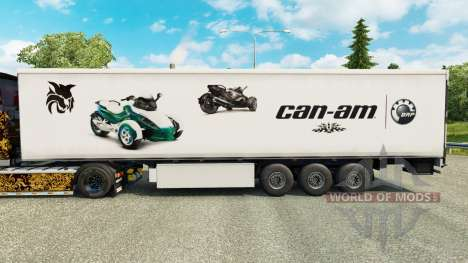 Skin Can-Am on semi for Euro Truck Simulator 2