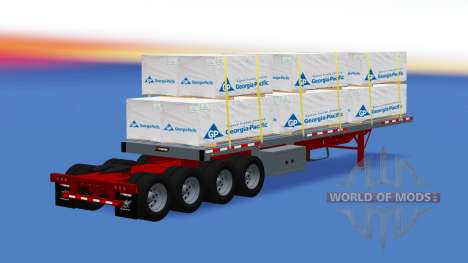 The semitrailer-platform with the cargo for American Truck Simulator