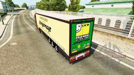 Curtain semi-trailer Vogelzang Angermayr for Euro Truck Simulator 2
