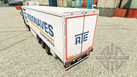 The RTE Rodonaves Transportes skin for trailers for Euro Truck Simulator 2