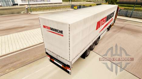 Intermarche skin for trailers for Euro Truck Simulator 2