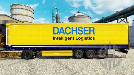 Dachser skin for trailers for Euro Truck Simulator 2