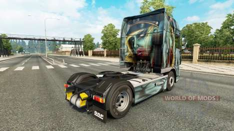 Zombie skin for DAF truck for Euro Truck Simulator 2