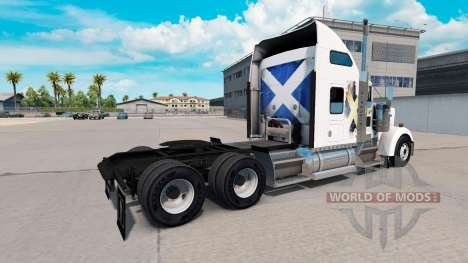 Skin Scotland on the truck Kenworth W900 for American Truck Simulator