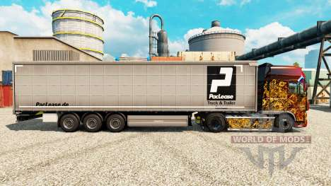 PacLease skin for trailers for Euro Truck Simulator 2