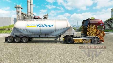 Skin Spedition Kollner cement semi-trailer for Euro Truck Simulator 2
