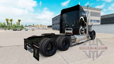 The Squirrel Logistics skin for the Kenworth W90 for American Truck Simulator