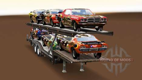 Car Transporter with cars from FlatOut for American Truck Simulator