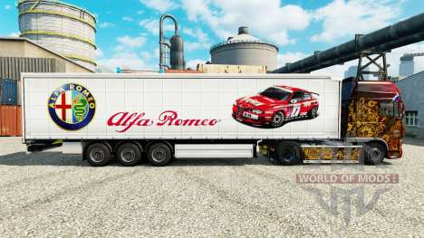Skin Alfa Romeo Sport on semi for Euro Truck Simulator 2