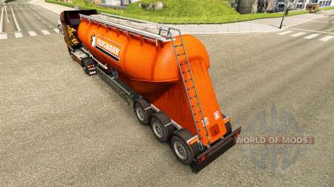 Skin Fangmann cement semi-trailer for Euro Truck Simulator 2