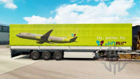 Skin Jin Air to trailers for Euro Truck Simulator 2