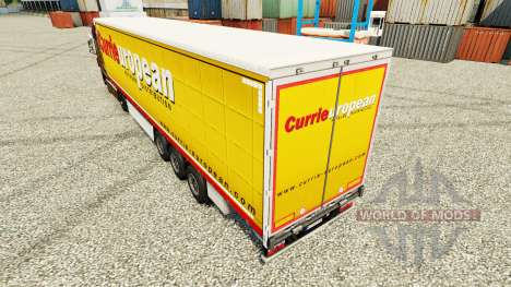 Skin Curries on European trailers for Euro Truck Simulator 2