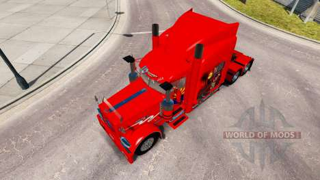 Skin Arizona USA Red tractor Peterbilt 389 for American Truck Simulator
