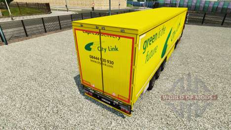 Skin City Link on a curtain semi-trailer for Euro Truck Simulator 2