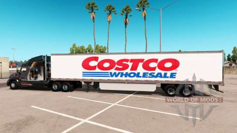 Skin Costco Wholesale extended trailer for American Truck Simulator