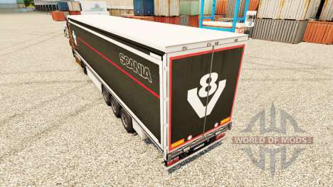 Skin Scania V8 semi for Euro Truck Simulator 2