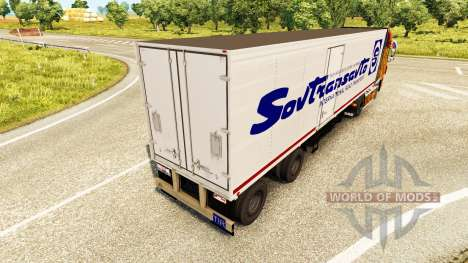 The semitrailer-the refrigerator of Odaz 9786 So for Euro Truck Simulator 2