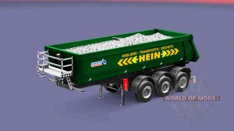 Semi-trailer tipper Schmitz Cargobull HEIN for Euro Truck Simulator 2