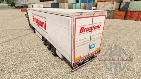 Skin Brugioni on semi for Euro Truck Simulator 2
