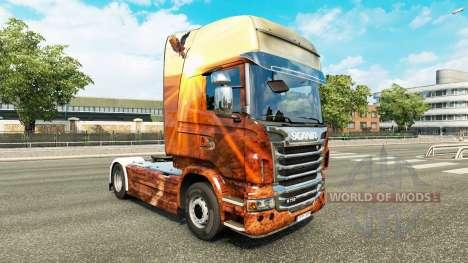 Free Spirit skin for Scania truck for Euro Truck Simulator 2