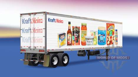 Skin Kraft Heinz on the trailer for American Truck Simulator