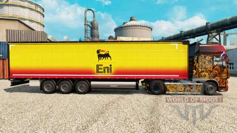 Skin Eni for trailers for Euro Truck Simulator 2