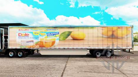 Dole skin extended trailer for American Truck Simulator