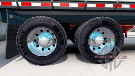 Chrome plated wheel rims of semi-trailers for American Truck Simulator