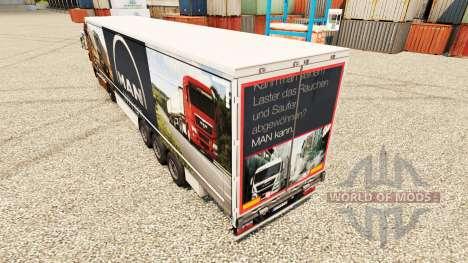 Skin MAN for trailers for Euro Truck Simulator 2