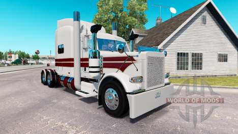 The White Knight skin for the truck Peterbilt 38 for American Truck Simulator