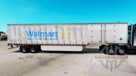 Skin Walmart on a curtain semi-trailer for American Truck Simulator