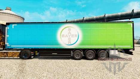 Skin Bayer for semi-trailers for Euro Truck Simulator 2